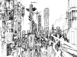 city sketch by 08--n7R6-7984