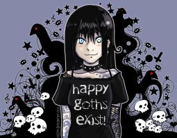 Happy goths exist by HenarTorinos