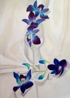 Blue Orchids by Miilo18