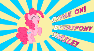 Come on everypony, Smile!! (Wallpapper) by Trivera935
