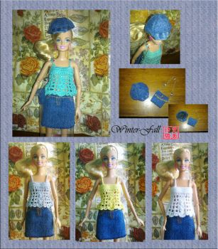 Clothes for Barbie by winter-fall