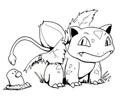 Curious Ivysaur by drakered