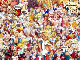 PowerGirl - Collage 2 by batwolverine