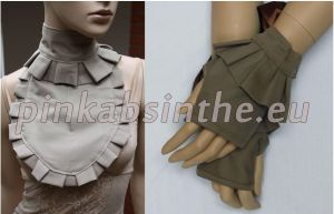 Jabot and mittens set by Pinkabsinthe