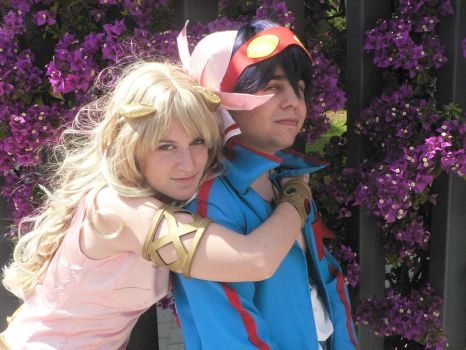 nia and simon cosplay by Sparkly-Monster