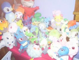 Pokemon plush collection 1 by SusanLucarioFan16