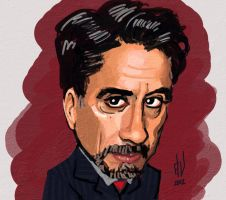 Robert Downey Jr by parafrenico