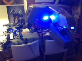 Metal Gear Rex Head Lights by ProVoltageCosplay