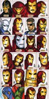 IRON MAN sketch cards - 2 of 3 by grantgoboom