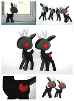 Black Wendigo NIghtmare Stag Plush by pookat