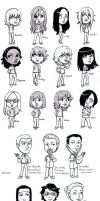 Every 'Lucy's Story' Character by MelissaDalton