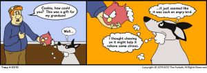 Furballed Comics: An Angry Bird by twiggy-trace