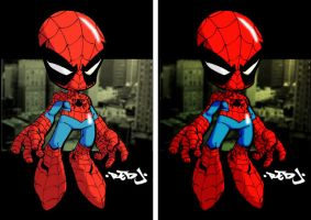 Red-J's Spidey Colored by ginmau