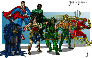 Justice League by cheddarpaladin
