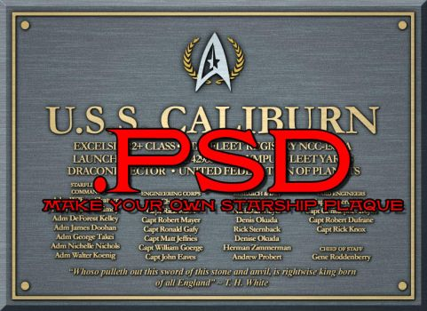 Starship Dedication Plaque PSD by FuryofaSeraph