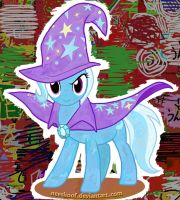 Drawball-style Trixie by Neeshoof