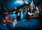 Prince Optimus and Sharkmech's Lord by murr-miay