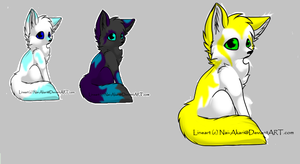 Mah new fox characters by Lovablesh