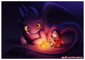 [COMMISSION] Toothless Fanart 2 V1 by leocirius