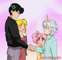 Helios meets the parents by taichikun14