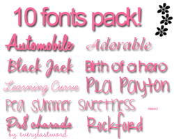 Fonts by everylastword
