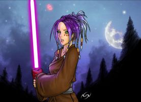 Jedi in the dark by SpinNoX