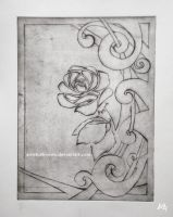 Rose  Etch by ArtistUnknown