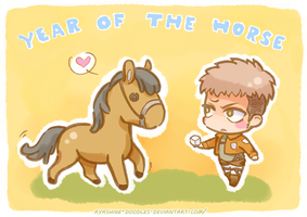 Year of the Horse - SNK Style by ayashige-doodles