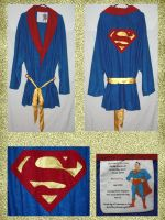 Superman Smoking Jacket - Robe by UrsulaPatch