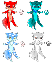 Fox Adoptables 2 by Sweet-Adoptables