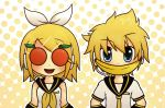Orange-eyes and Banana-mouth by EXPL0SIVO