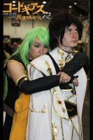 C.C and Emperor Lelouch x2 by Dark-Angel15-2010