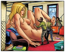 Giantess Lilly Outgrows the Apartment by giantess-fan-comics