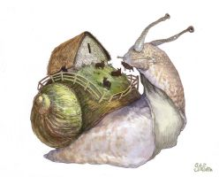 Snail-ship by Stefana-Tserk