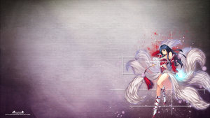 LoL - Ahri Wallpaper  ~xRazerxD by xRazerxD