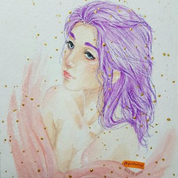 Purple Hair Don't Care by goldnlief