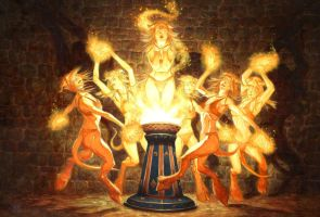 Brazier of Dancing Flames by RalphHorsley