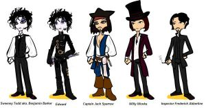 johnnys characters by SeverusSnape94
