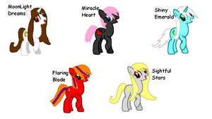 8 Point Pony Adopts!~ -ONE LEFT- by World-Detective-L