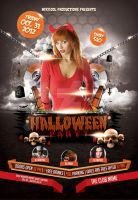 Halloween Party Flyer Template by whitescale