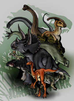 Jurassic Park Bestiary - The Preys by The-Alienmorph
