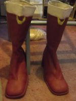 My Sailor Moon boots are done by Londonexpofan