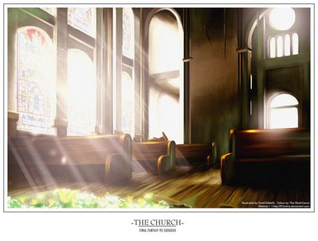 FFVII-- The Church by DarkChildx2k