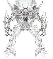 Unicron Sketch by CosbyDaf