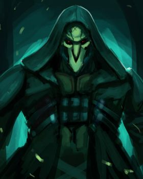 Reaper Overwatch - May sketch a day by Konnee