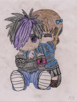 Cute Emo Couple One by LittlePhillion