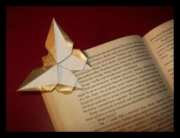 Butterfly Bookmark by lonely--soldier