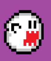 8bit Boo by insane4hatenafrogs