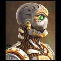 Portrait of a Warforged by geministranger