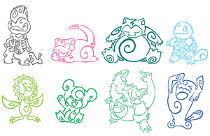 Pokemon Tattoo Pack 3 by Aerpenium
